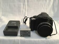 CANON SX30IS POWERSHOT BLACK DIGITAL CAMERA 14.1MP - Battery & Charger