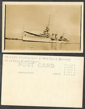 Old Ship Real Photo Postcard - Ecuador - Crucero Bolivar