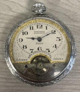 Windsor Elegant Swiss Made Pocket Watch 8 Days