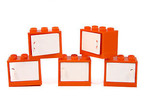 LEGO Container / Cupboard pack of 5 ORANGE storage box 2x2x3 kitchen friends +