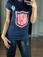 Team USA Adidas Women's T Shirt World Cup of Hockey Joe Pavelski #8 NWT $35.00