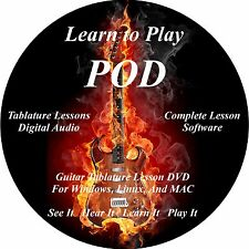 POD Guitar TABS Lesson CD 56 Songs + Backing Tracks + BONUS!