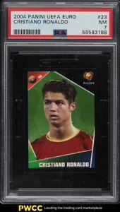 2004 Panini UEFA Euro Cristiano Ronaldo ROOKIE RC #23 PSA 7 NRMT