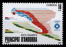 Skispringer. Olimpo. giochi d'inverno, Sarajevo .1w. Andorra, posta spagnola 1984