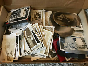 Huge Vintage Black & White Photo Lot 1800's & Up Lots of Cars Military WW II 435