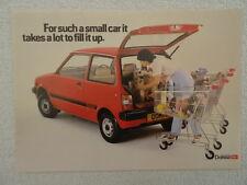 Daihatsu Domino brochure 1983 - 617cc petrol engine. 3-Door model.