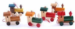 BRUBAKER Trains Tree Ornaments Set - Hanging Figurines