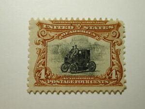 U.S. Scott #296 - 4 Cent Pan-American Expo Electric Auto 1901 /Hinge