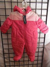 infant pink snow suit  3-6 months