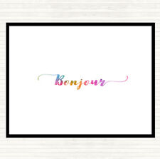 Bonjour Rainbow Quote Dinner Table Placemat