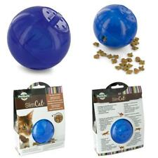 Cat Ball Toy and Food Dispenser Meal Dispensing Feeder Interactive 2in1 Pet Blue