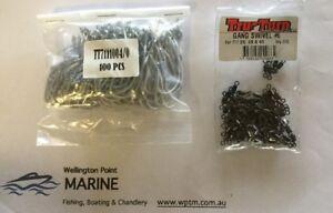TruTurn 711 5/0 Gang Hooks 100 Pack + Rolling Swivels #4 - Value Pack