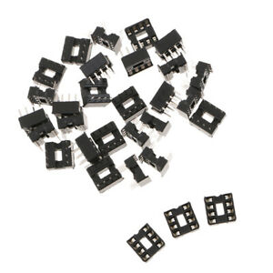 30x DIP IC Socket, High Quality And Durable, Approx. 10 × 9.5 × 8 Mm