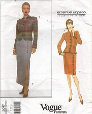 Emanuel Ungaro Vogue Sewing Pattern Fitted Jacket & Skirt Paris Original 2017