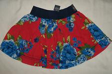 NWT Abercrombie & Fitch Women Juniors Floral Mini Skirt Elastic Waist Sz SMALL S