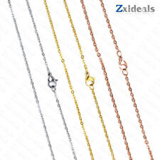 Rose/ Gold / Silver Plated Necklace or Bracelet 1.5 - 3mm Extender Chain 40-65cm