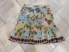 828  Notations Floral Border Print Flowy Skirt P XL