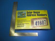 Solar Powered Led Light House Street Address Numbers Brass Copper Outside VS33