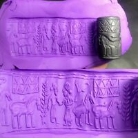 Ancient Sassanian Roman Historical Engraved Intaglio cylinder Seal Bead