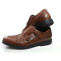 Rockport Men Size 8.5 Double Monk Brown TRUTECH shoes