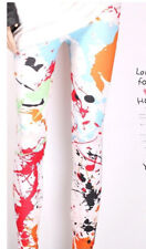 orange ink graffiti paint art slim fitting fashion trendy leggings