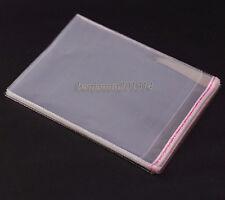 100pcs 40x50cm Poly Bags Transparent Opp Bag Plastic Bag Self Adhesive Seal