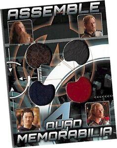The Avengers - AQ-1 Vorstagg / Fandral / Hogun / Thor Quad Costume Card UD 2012