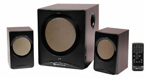 Rockville ROCK MEDIA Bluetooth Speakers+Subwoofer for Macbook/PC/Dell/Lenovo/Hp