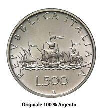 500 lire in Argento Caravelle '58 '59 '60 Unità d'Italia, Dante ( tutte miste )