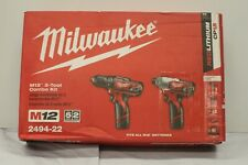 Milwaukee 2494-22 M12 Cordless Combo 2-Tool Drill Kit #14441