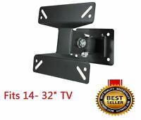 Tilt & Swivel LED LCD TV Wall Mount Bracket 14 17 19 22 24 26 28 30 32 In