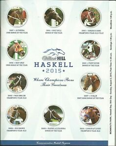 2015 - AMERICAN PHAROAH - Haskell Stakes program in MINT Condition