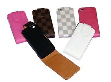 Cover Case IPHONE 4 4s Leather Flip 6 Colours to choose from New
