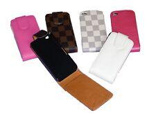Cover SCHUTZHÜLLE Case iphone 4  4s   Leder FLIPCASE 6 Farben zur Auswahl  NEU