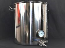100ltr stainless steel stockpot tank tap Thermometer sight glass mash tun Kettle