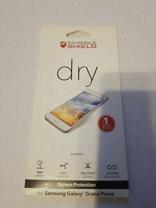 Zagg Invisible Shield dry Screen Protector Samsung Galaxy Grand Prime NIB