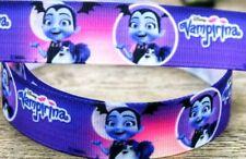 "7/8"" 2 Yards Vampirina Grosgrain Ribbon Hair Gift Bows Scrapbooks Crafts Purple"