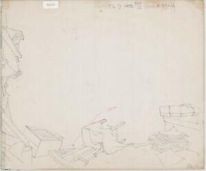 Heidi's Song Production Animation Background Drawing Hanna Barbera 1982 b3103