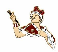 Freddie Enamel Pin Glam Rock Metal Pop Star Band Music Queen Brooch Badge Gift