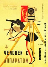 MAN WITH A MOVIE CAMERA 1929 RUSSIAN SOVIET AVANT GARDE FILM POSTER A3 RE PRINT