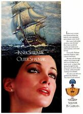 Vintage Print Ad Perfume 70s Inner Outer Shalimar by Guerlain Clipper Ship woman