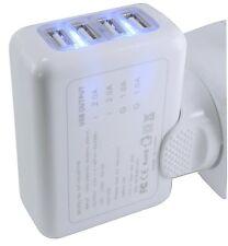 Energmix® 4-Fach USB Port Adapter Universal Ladegerät Ladeteil Netzteil Ladeset