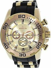 Invicta Men's Pro Diver 22342 Gold Silicone Japanese Chronograph Diving Watch
