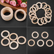 50pcs 50MM Unfinished Natural Wooden Round Rings DIY Wooden Craft Loop Circles