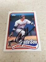1989 Topps #122 Chicago White Sox Lance Johnson Autographed Baseball Card!