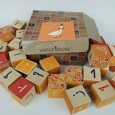 Uncle Goose Arabic Language Abc Wooden Blocks (28 pieces) Made in Usa