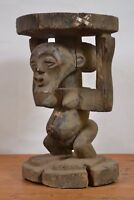 African tribal art, Amazing Songye stool from Democraric Republic of Congo