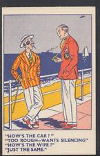 Comic Postcard - Seaside / Beach / Battered Husband / Wife / Domestic   A3752