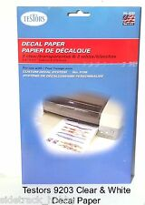 Testors 9203 Clear & White Decal Paper Refill for Custom Decal System
