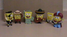 SpongeBob Squarepants Lost in Time Lot of  6 Toy Burger King Kid Meal Toys. MNT